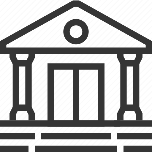 architecture, bank, internet banking, money, old building, profit, savings icon