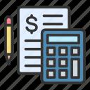accounting, math, calculation, pencil
