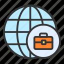 global business, briefcase, global, international