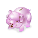 accounting, money, piggy bank icon