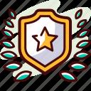 achievement, award, badge, medal, reward, star
