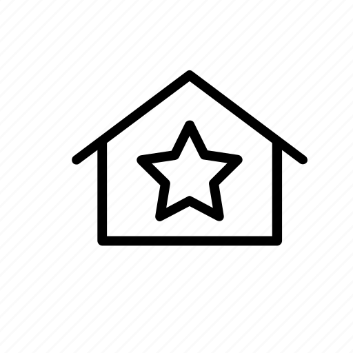 building, favourite, home, like, office, places, star icon