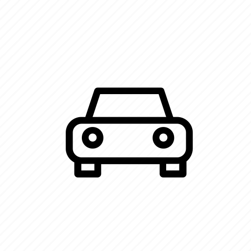 automobile, car, delivery, front, taxi, transport, travel icon