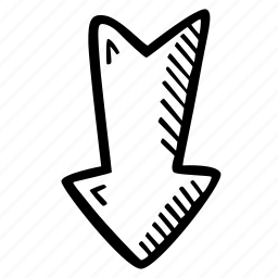 achievement, action, arrow, direction, down, goal, success icon
