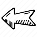 achievement, action, arrow, direction, goal, left, success icon