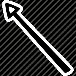 achievement, action, arrow, direction, goal, left, success icon