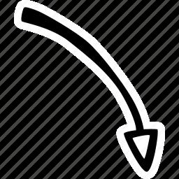 achievement, action, arrow, direction, goal, right, success icon