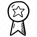 achievement, award, goal, prize, ribbon, success icon
