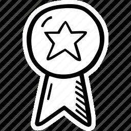 achievement, award, goal, prize, ribbon, success icon