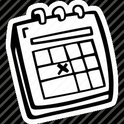 action, calendar, date, deadline, motivation, success, time icon