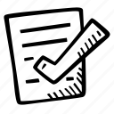 achievement, action, approved, direction, document, goal, success icon