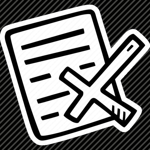 achievement, action, direction, document, goal, rejected, success icon