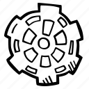 achievement, action, direction, gear, goal, success icon