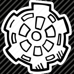 achievement, action, direction, gear, goal, success icon