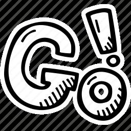 achievement, action, direction, go, goal, success icon