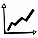 achievement, action, direction, goal, graph, success icon