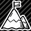 achievement, action, direction, goal, mountain, success icon