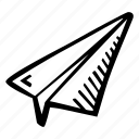 achievement, action, direction, goal, paper, plane, success icon