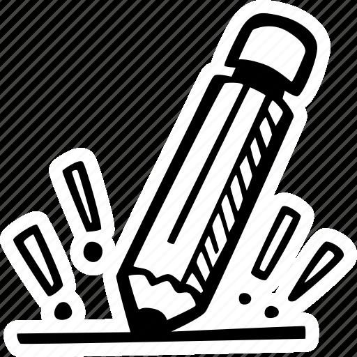 business, cration, goal, idea, pencil, plan icon