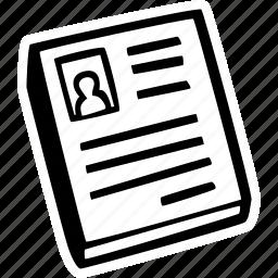 achievement, action, cv, goal, jon, resume icon