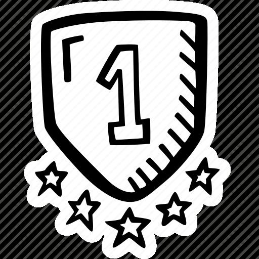 achievement, action, direction, goal, shield, success icon