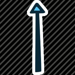 achievement, action, arrow, direction, goal, success, top icon