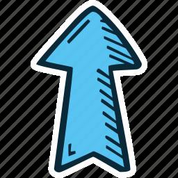 achievement, action, arrow, direction, goal, success, up icon