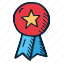 achievement, action, award, direction, goal, ribbon, success icon