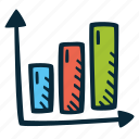 achievement, action, bar, direction, goal, graph, success icon