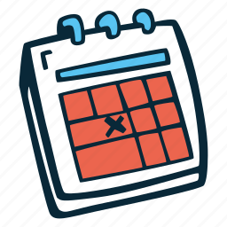 action, calendar, date, deadline, motivation, success, time icon