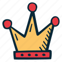action, call to action, crown, hand drawn, motivation icon