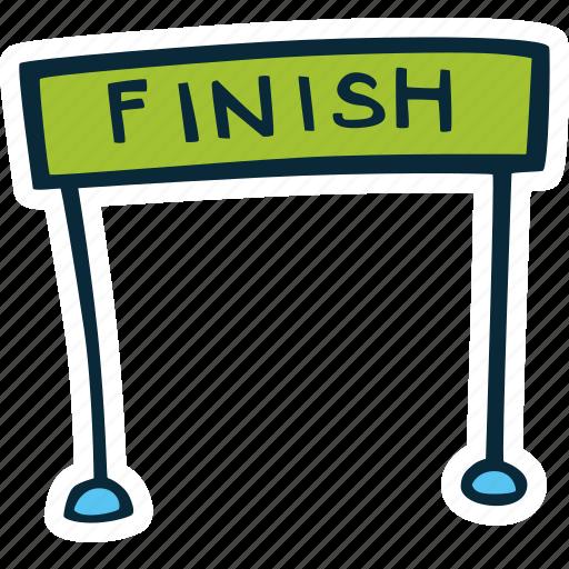 achievement, action, direction, finish, goal, line, success icon