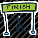 achievement, direction, finish, goal, line, runner, success icon