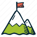 achievement, action, direction, goal, mountain, success icon