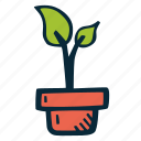 achievement, action, goal, growth, plant, success icon