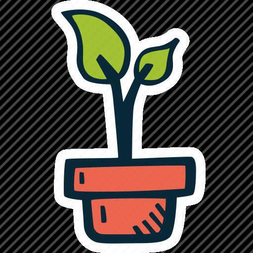 achievement, action, goal, growth, plant, success icon