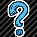 achievement, action, direction, goal, mark, question, success icon