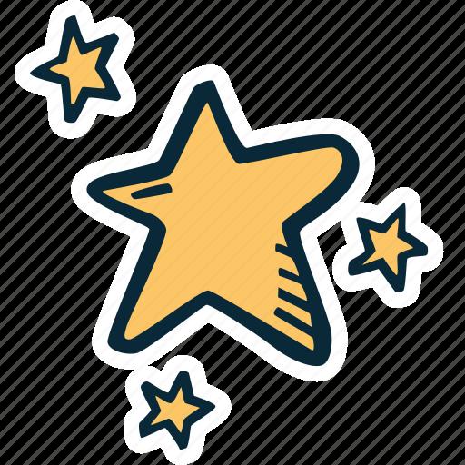 achievement, action, direction, goal, stars, success icon