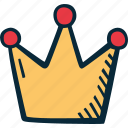 achievement, action, crown, direction, goal, success icon