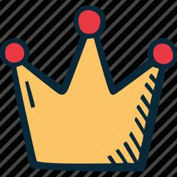 achievement, action, crown, direction, goal, success icon
