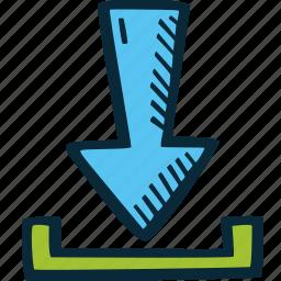 achievement, action, direction, download, goal, success icon