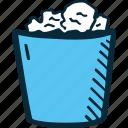 achievement, bin, direction, dust, goal, success icon