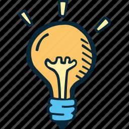 business, cration, goal, idea, lightbulb, plan icon