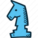chess, game, knight, puzzle, strategy, success, win icon