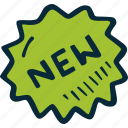action, new, sale, shop, sticker, success, tag icon