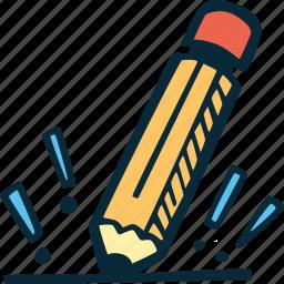 achievement, award, goal, pencil, prize, success icon