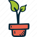achievement, goal, growth, plant, success icon