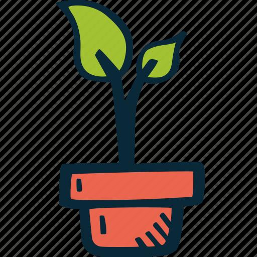 achievement, goal, growth, plant, success icon