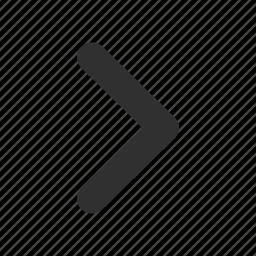 Forward, right, arrow, next icon