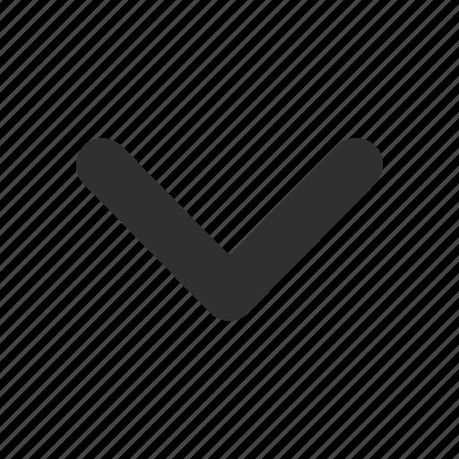 arrow, below, down, next icon